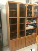 3 piece wood wall unit