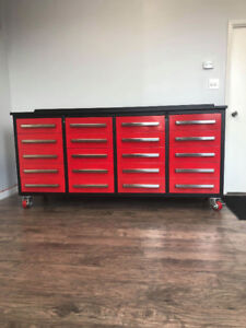 7Ft long 20 Drawer Tool Boxes (Blue and Red) Great Gift Idea!!