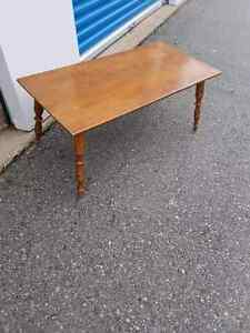 Solid wood Brown vintage coffee table