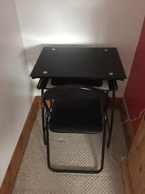 Desk and Chair in Black