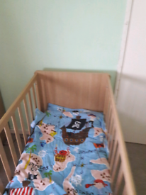 Cot &junior bed for sale