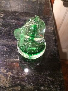 Glass pear paper weight