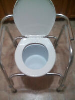 Commode with a brand new toilet seat