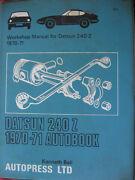 DATSUN 240 Z  WORKSHOP SERVICE MANUAL 1970-71 Dianella Stirling Area Preview