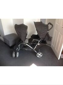 Graco stadium duo twin double pushchair pram stroller as new Newcastle Hexham Alston areas