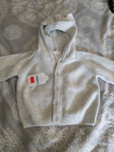 NWT Gymboree infant hooded sweater, 3-6 months
