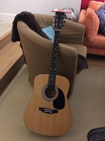 Burswood Acoustic Guitar Signed by Esteban, LIKE NEW