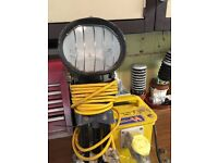 110v transformer and defender tripod light