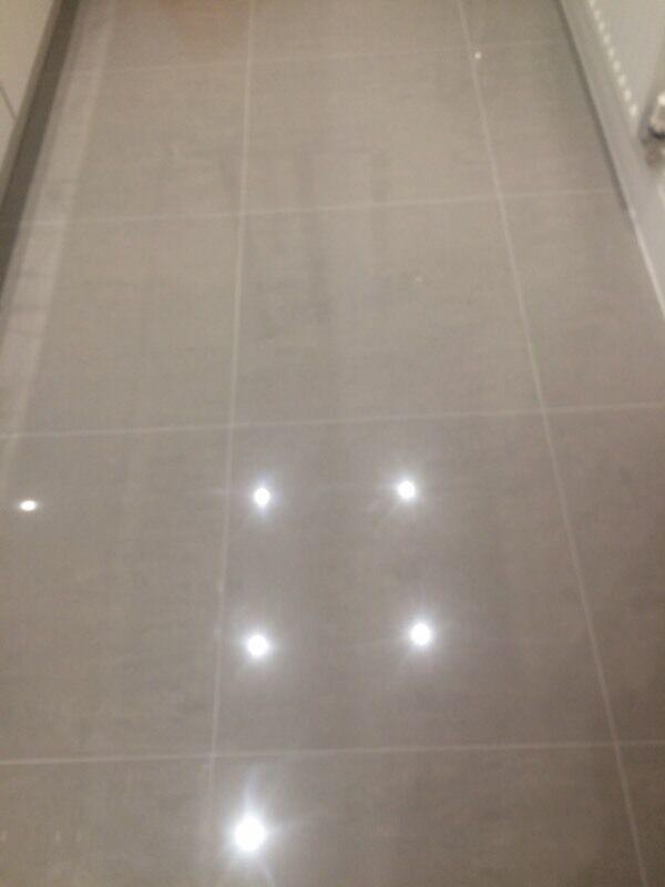porcelain light grey high gloss floor tiles in east renfrewshire