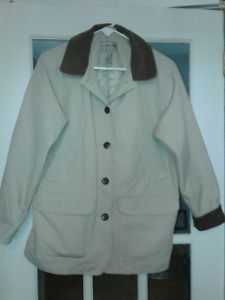 Vintage Womens LL Bean Flannel Lined Barn Coat size Med Petit