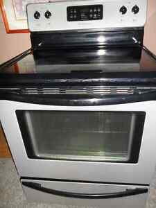 Satin STAINLESS SELF-CLEANING SMOOTH TOP STOVE $200.
