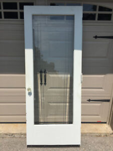 Vintage Interior/Exterior  Door with Glass Insert