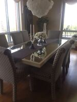 FREE Mirrored top Dining Table 90 x 44