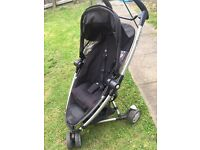 Quinny zapp Xtra 2 pushchair with rain cover and foot muff