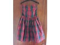 Jack Wills- Delaney strapless tartan dress, size 10. Brand new- with tags