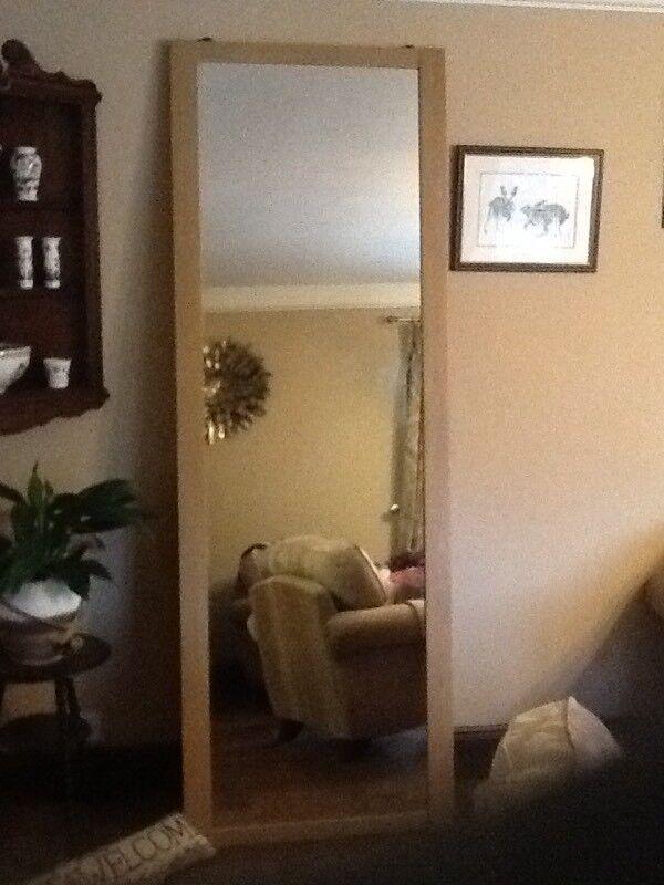 Mirror Sliding Wardrobe Door 30 X 88 Inches