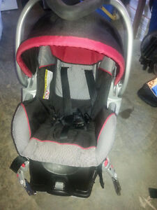 Sit and Stand Stroller with baby carseat and base