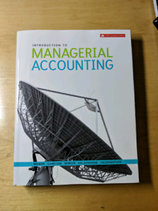Intoduction To Managerial Accounting Fifth Canadian Edition
