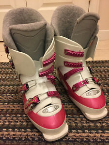 Girls Rossignol Ski Boots, Pink and White