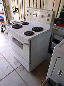 White electric stove for sale