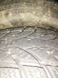 195/65r15 studded tires on 5 bolt rims
