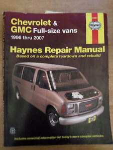 Haynes Repair Manual for 1996 thru 2007 GM full size vans