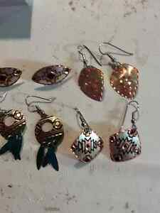 Copper Earrings $20 each/pair