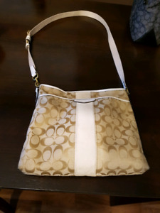 COACH Beige Crossbody Purse