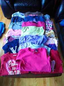 Girls size 5 long sleeve shirt lot, mostly Gap
