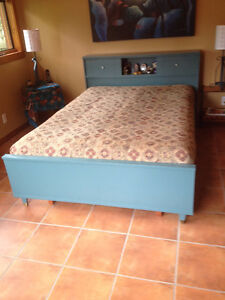 FUTON COUCH & CHAIR & VINTAGE BEDROOM SET