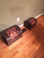 Two very cute chests for storage or Decor !!
