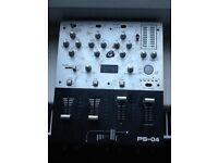2 numark DJ vinyl turntable decks + Gemini mixer