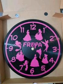 vinyl record clock, personalised gift, Christmas, birthdays