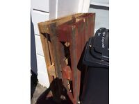 2 x wooden pallets free