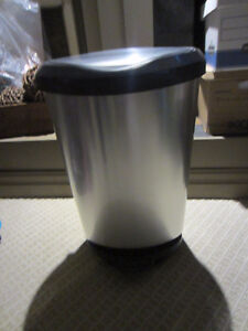Silver Garbage Can