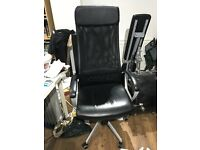 Ikea Markus office chair black leather
