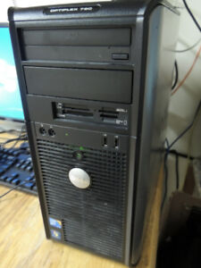 Dell Optiplex Twer C2D-3.06Ghz/4GB/250GB/Win7-64/DVD/Card Reader