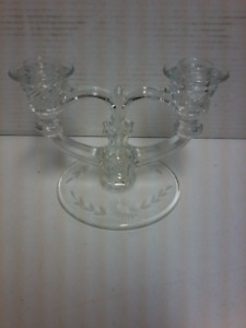 Clear glass candle stick holder