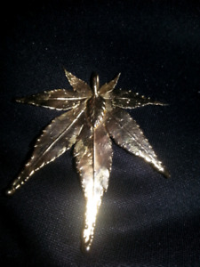 Real leaf pendant for $25