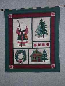 Hand quilted Christmas wall hanging London Ontario image 1