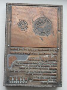Antique Birks Print Plate