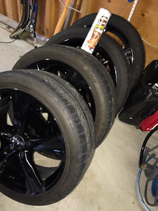 "20"" Black Chrome Wheels w/Michelin Tires!"