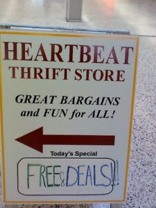 DOLLAR SALE, all clothes, HEARTBEAT Thrift Store, BayView Mall