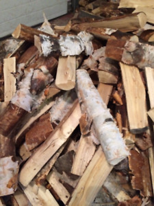 Dry Seasoned Birch Firewood  $35 per 110lb bag North Side Pickup