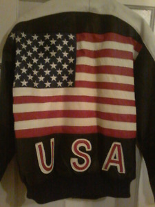 Leather USA coat