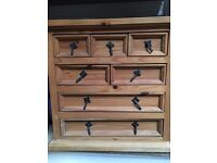 Small drawer cabinet. Rustic.