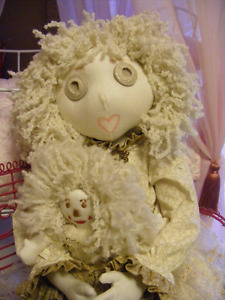 Button Jointed hand made rag doll