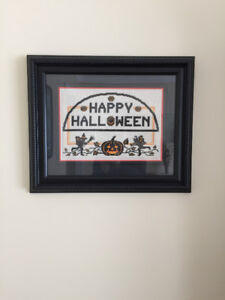 Halloween Cross Stitch Frame 16 x13