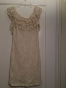 British Dress by Quiz UK. Size S Cream