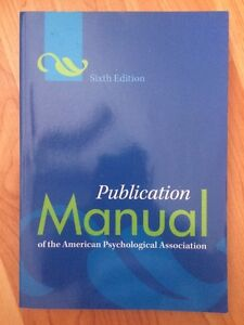 Publication manual of the American psychological association Cornwall Ontario image 1